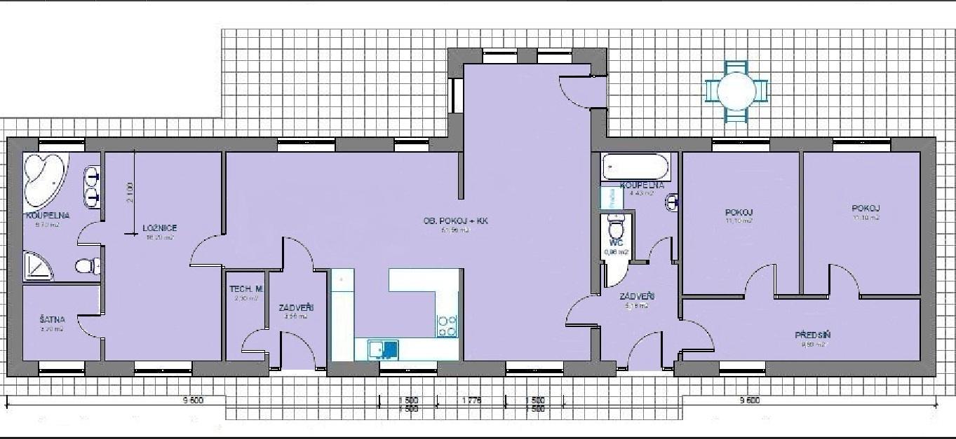 PÙDORYS BYT LEA 130 m2